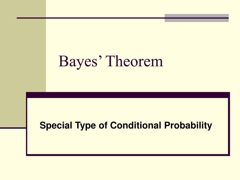 Bayes theorem explained.