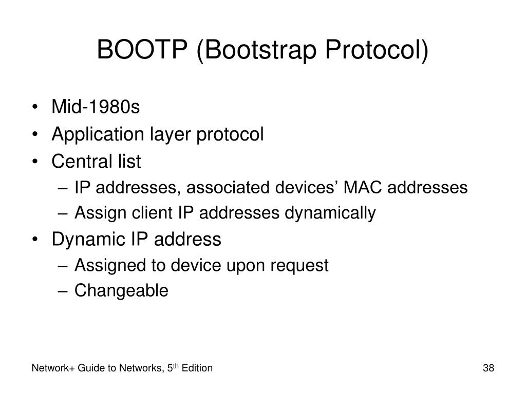 BOOTP (Bootstrap Protocol)