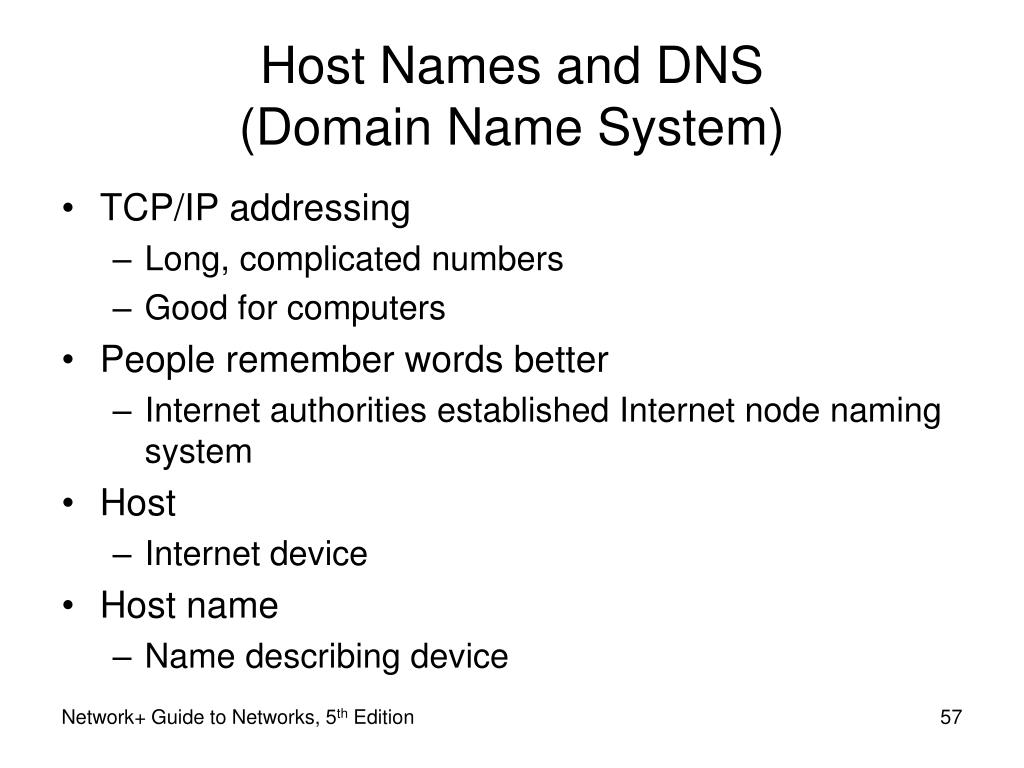 Host Names and DNS                   (Domain Name System)
