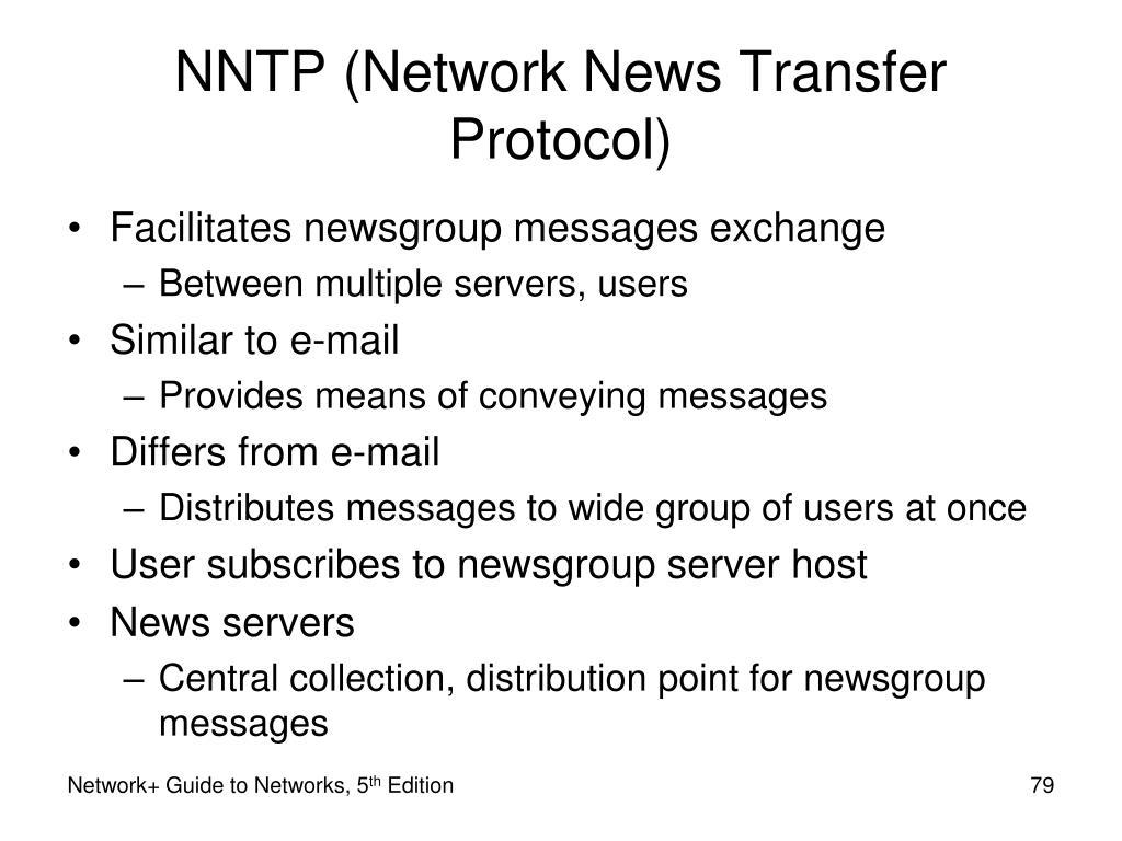 NNTP (Network News Transfer Protocol)