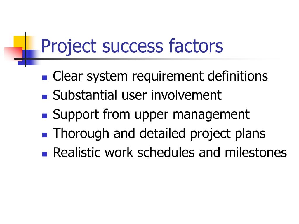 Project success factors