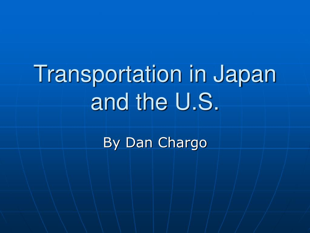 transportation in japan and the u s l.