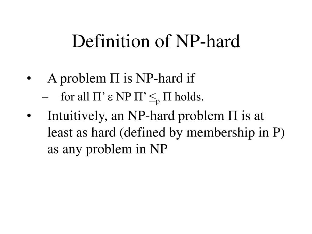 Definition of NP-hard