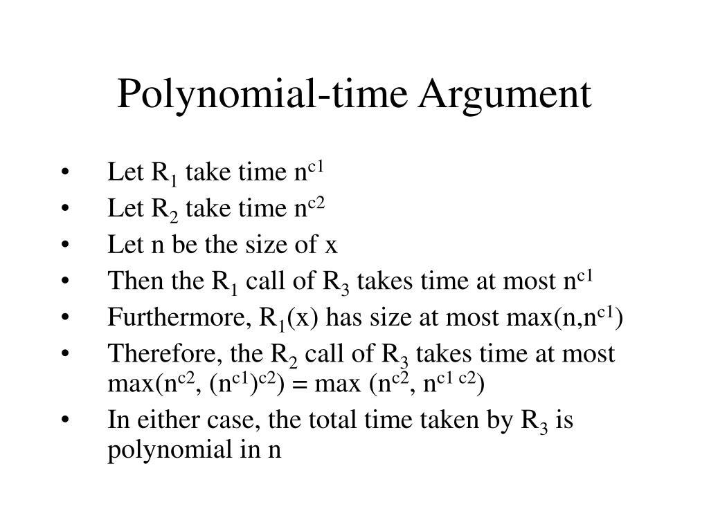 Polynomial-time Argument