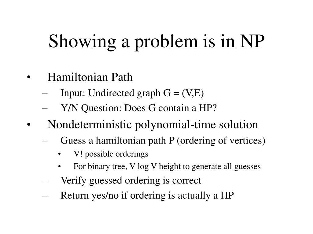 Showing a problem is in NP
