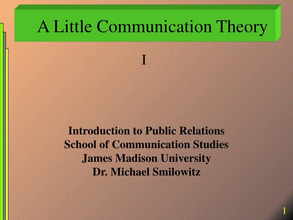 A Little Communication Theory