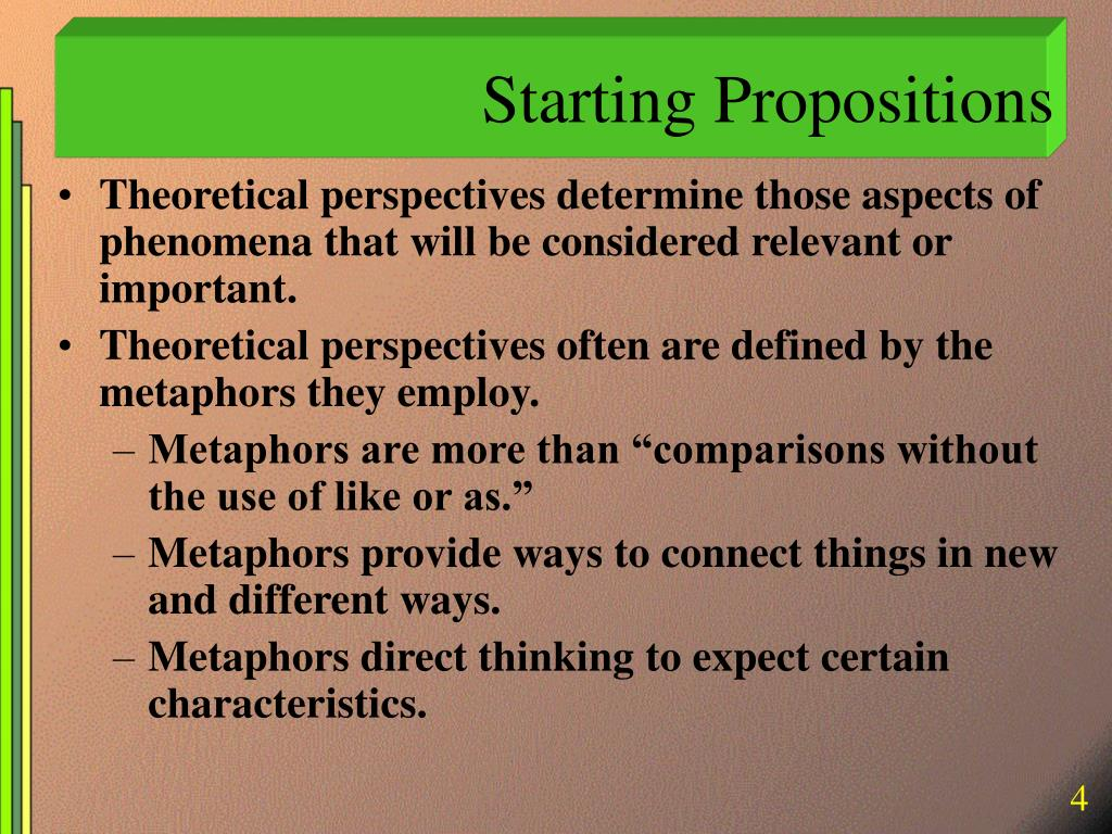 Starting Propositions