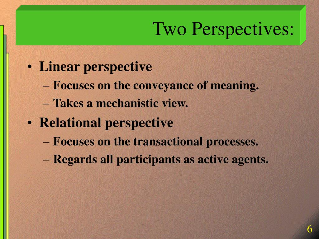 Two Perspectives: