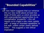 bounded capabilities