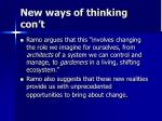 new ways of thinking con t