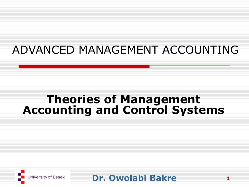 advanced management accounting l.