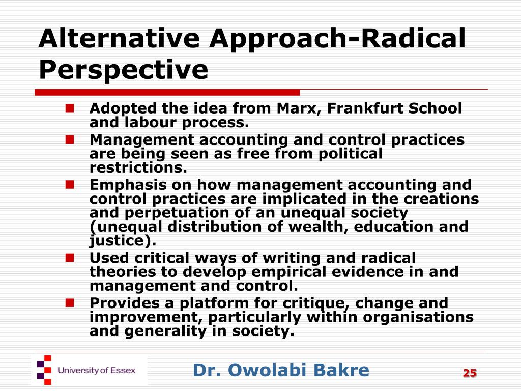 Alternative Approach-Radical Perspective