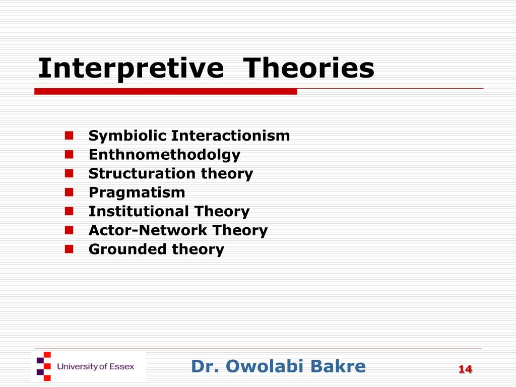 Interpretive  Theories