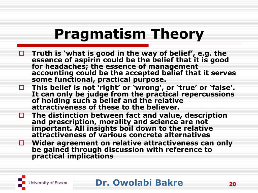 Pragmatism Theory