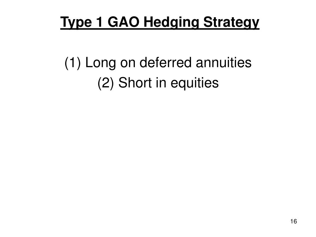 Type 1 GAO Hedging Strategy