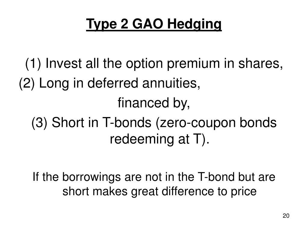Type 2 GAO Hedging