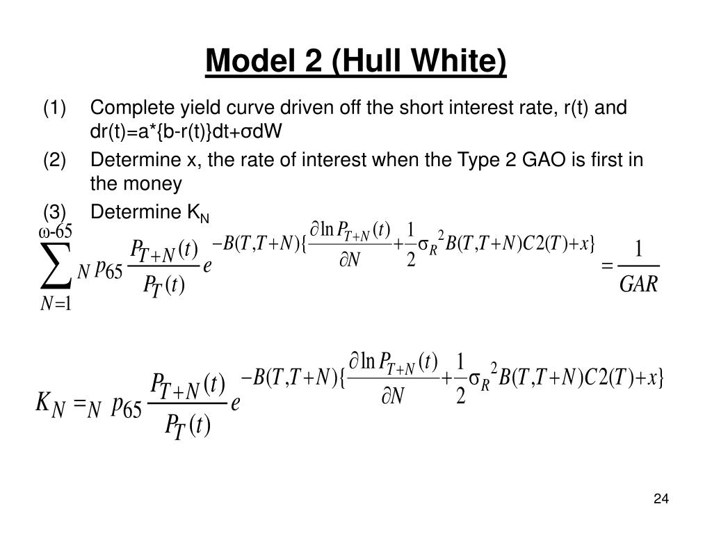 Model 2 (Hull White)