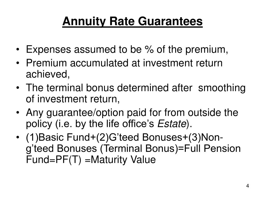 Annuity Rate Guarantees