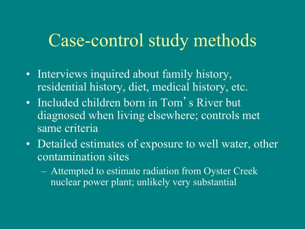 Case-control study methods
