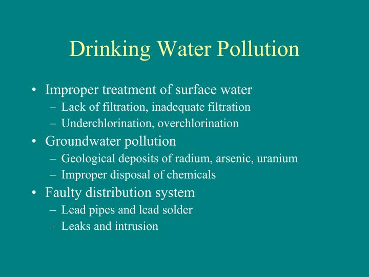 Drinking water pollution