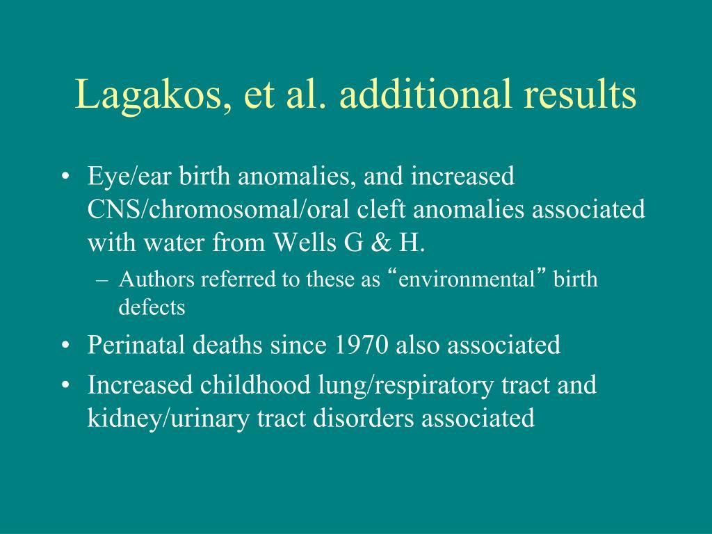 Lagakos, et al. additional results