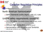 canadian regulation principles