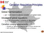 canadian regulation principles8