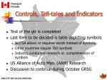 controls tell tales and indicators