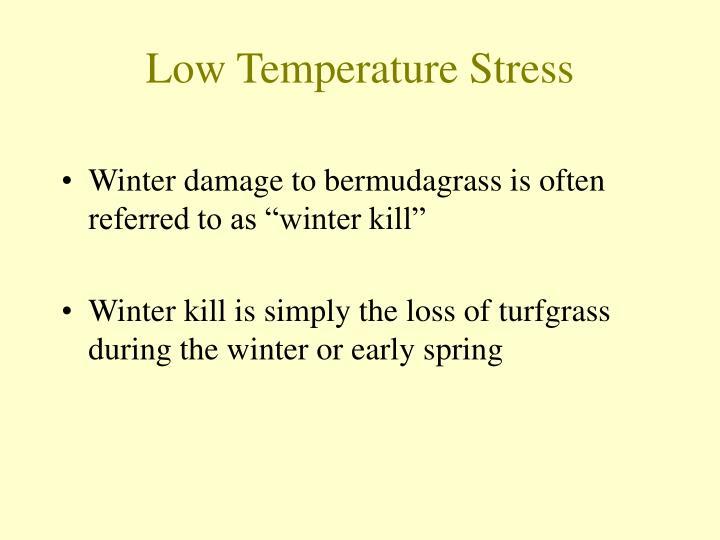 Low temperature stress