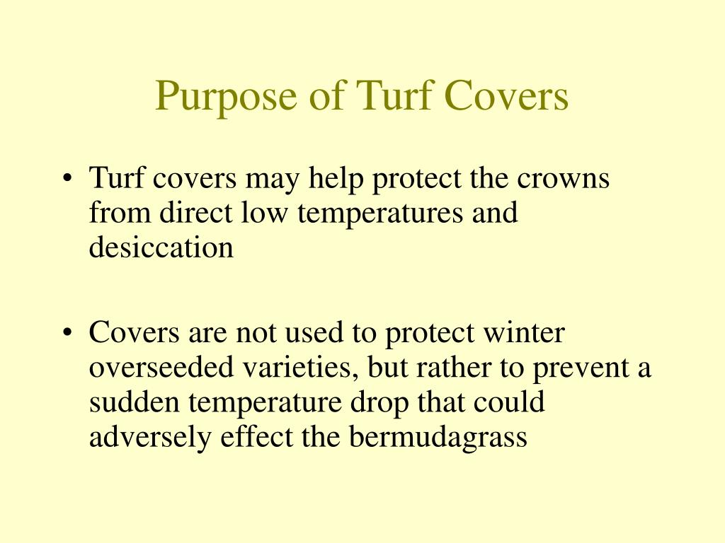 Purpose of Turf Covers