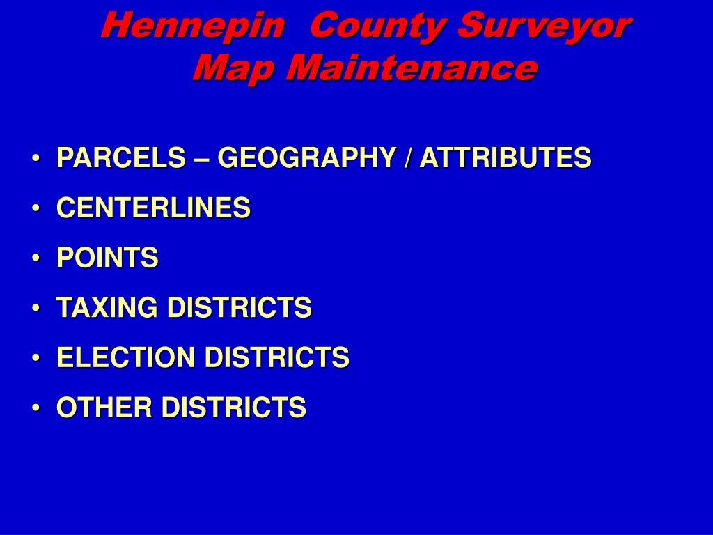 hennepin county surveyor map maintenance l.
