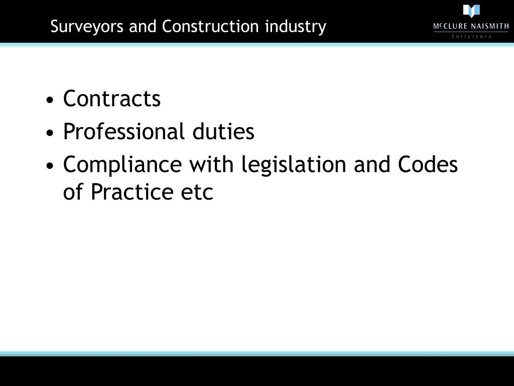 Surveyors and Construction industry