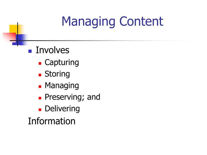 Managing content3