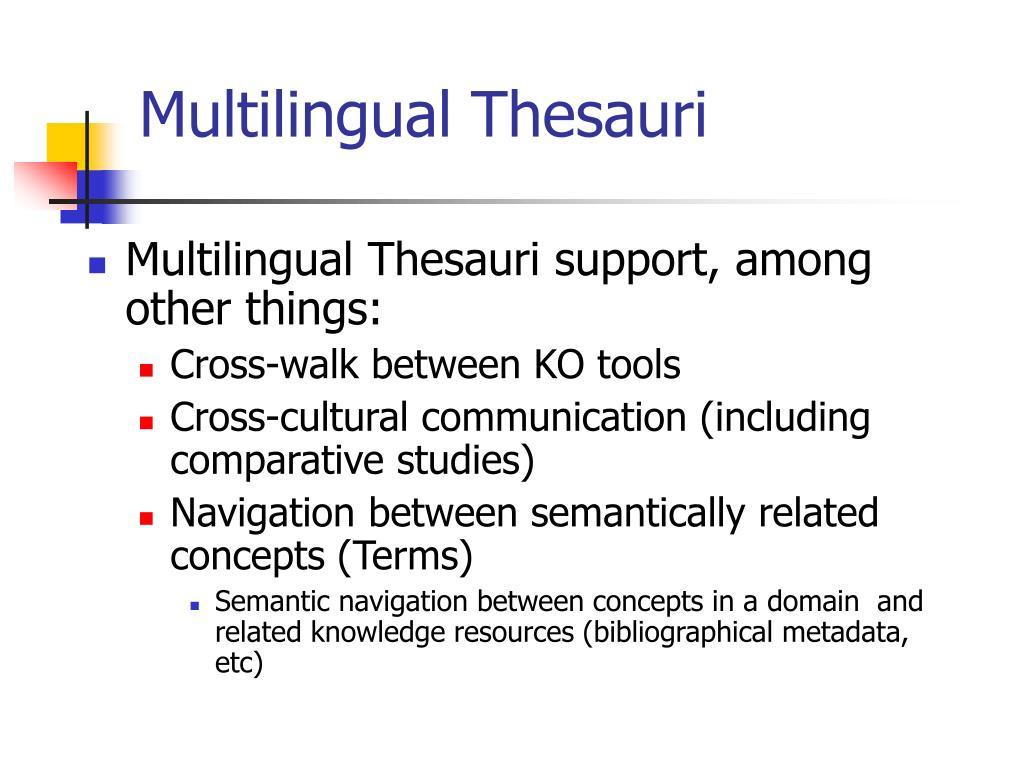 Multilingual Thesauri