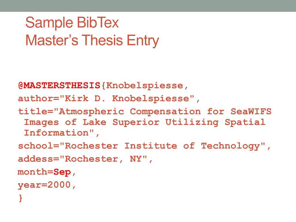 bibtex master thesis school