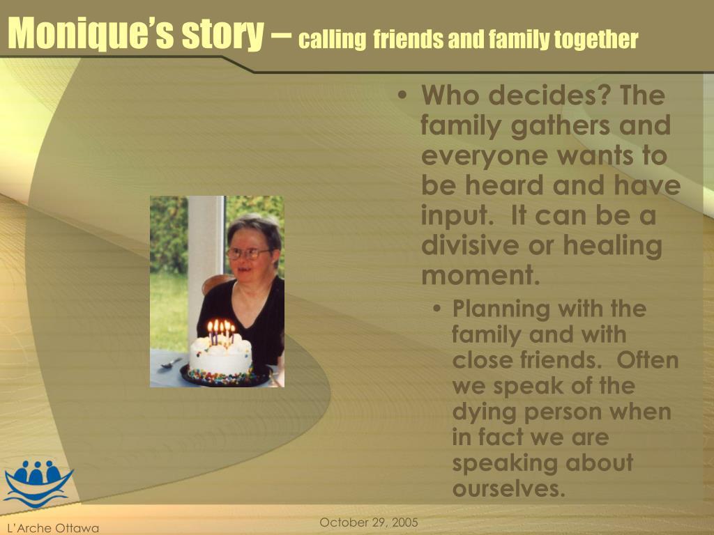 Monique's story –