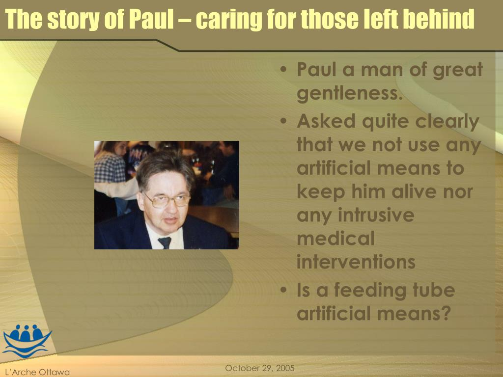 The story of Paul – caring for those left behind
