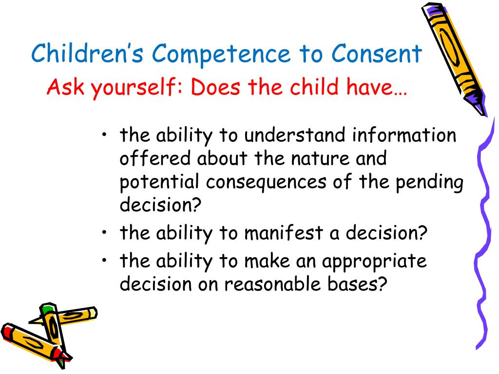 Children's Competence to Consent