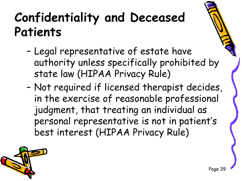 Confidentiality and Deceased Patients