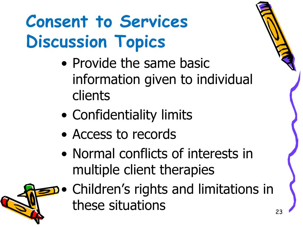 Consent to Services Discussion Topics