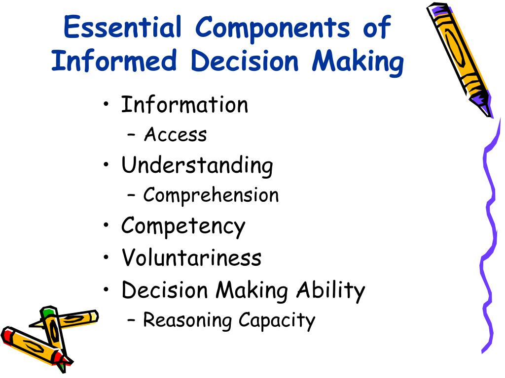 Essential Components of Informed Decision Making