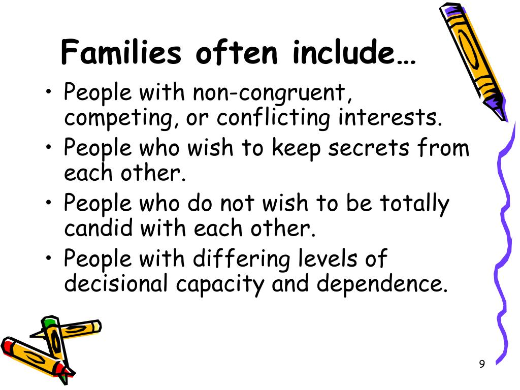 Families often include…