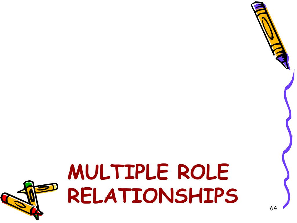 Multiple Role Relationships