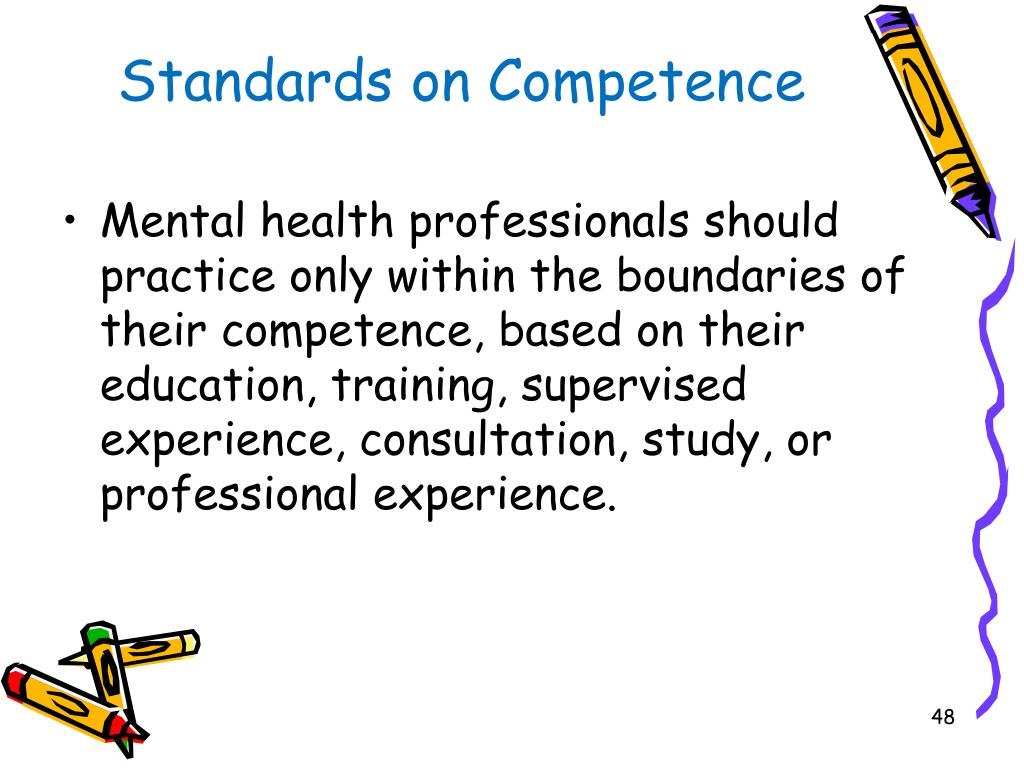 Standards on Competence