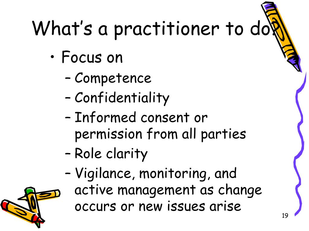 What's a practitioner to do?