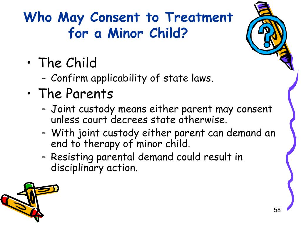 Who May Consent to Treatment