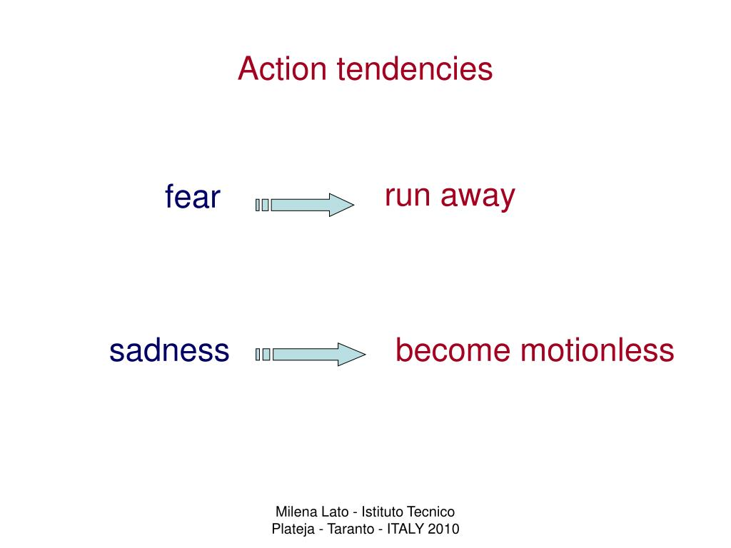 Action tendencies