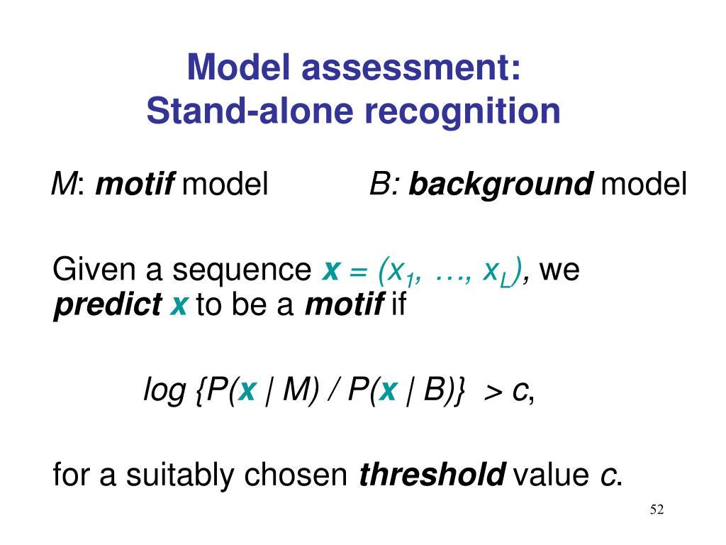 Model assessment: