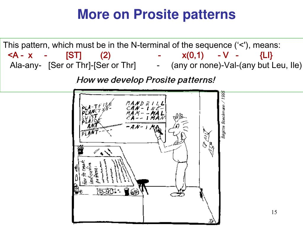 More on Prosite patterns