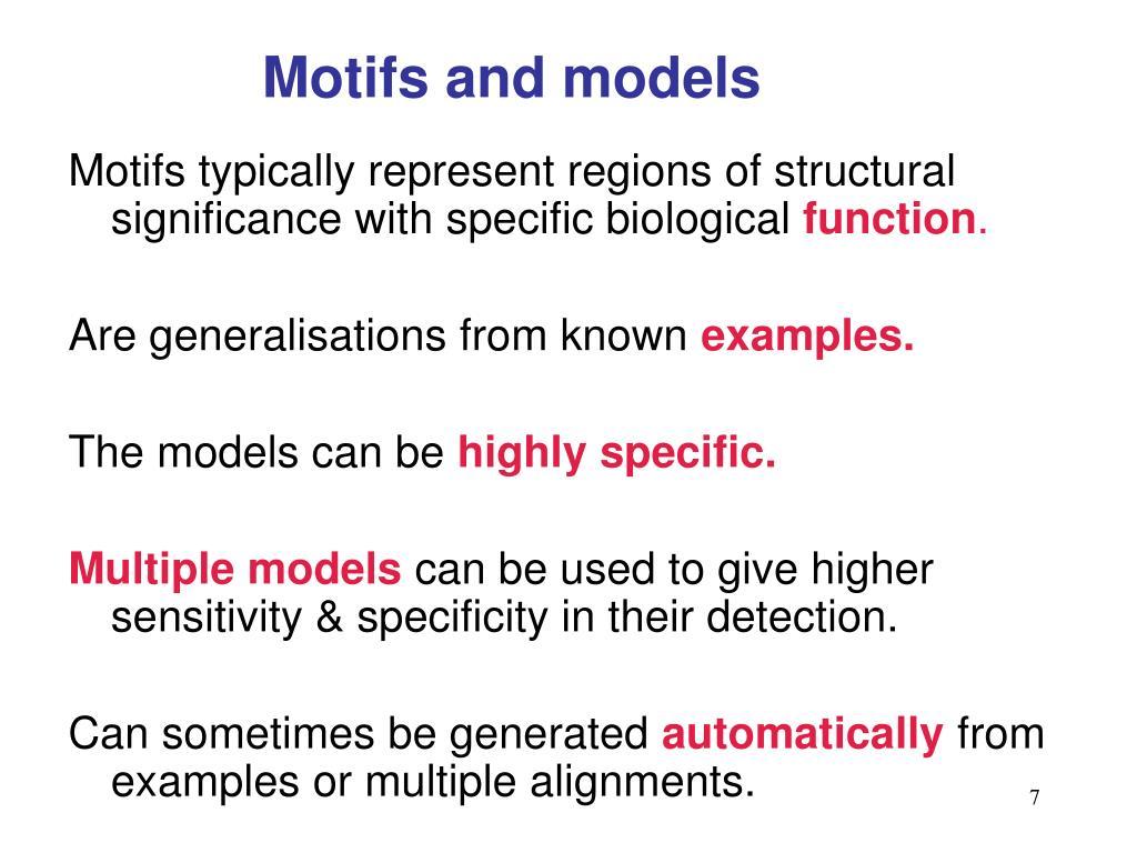 Motifs and models